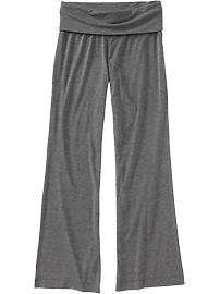 Women's Fold-Over Jersey Lounge Pants - Heather Charcoal